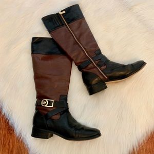 Michael Kors jetset two toned riding boots